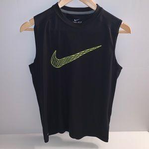 Nike Dri-Fit Tank Top w/Neon Yellow Check Mark Lg